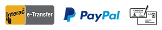 Interac eTransfer / Paypal / Cheque